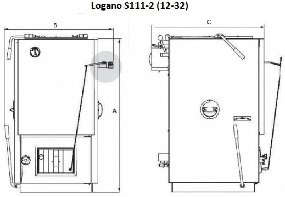 Твердотопливный котел Buderus Logano S111-2-12