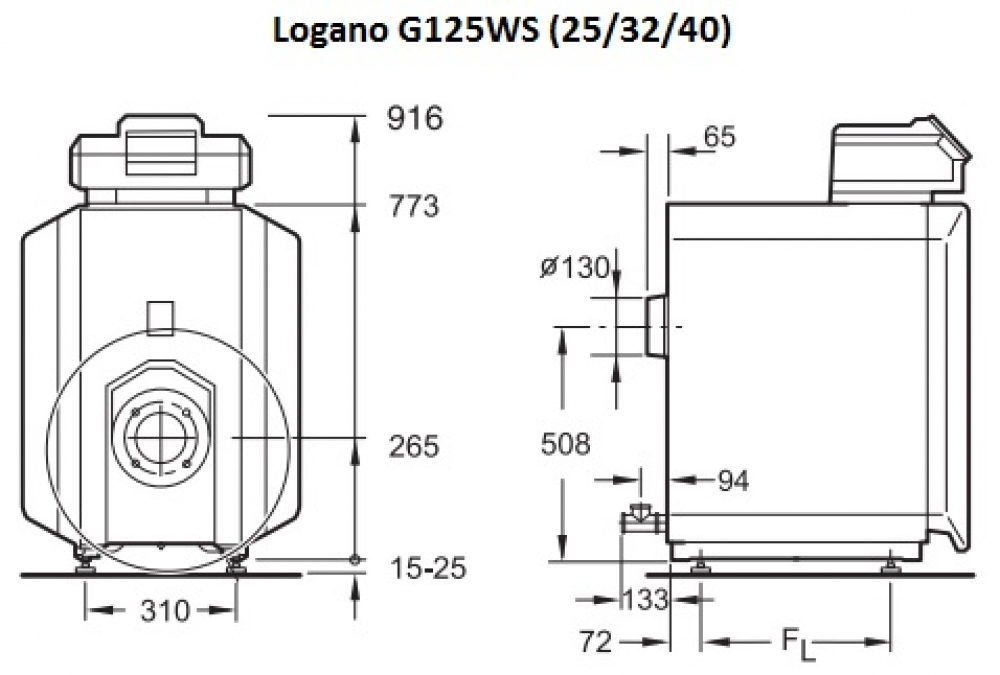Универсальный котел Buderus Logano G125WS-32