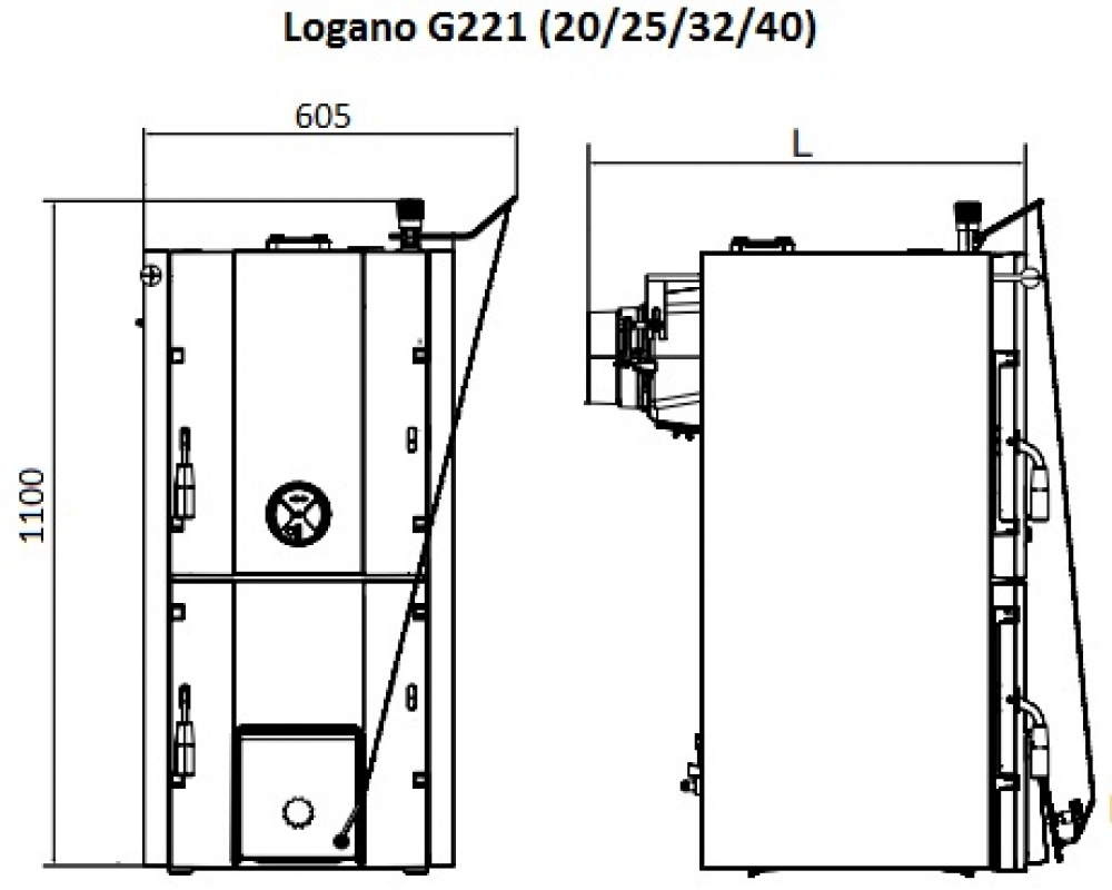 Твердотопливный котел Buderus Logano G221-25