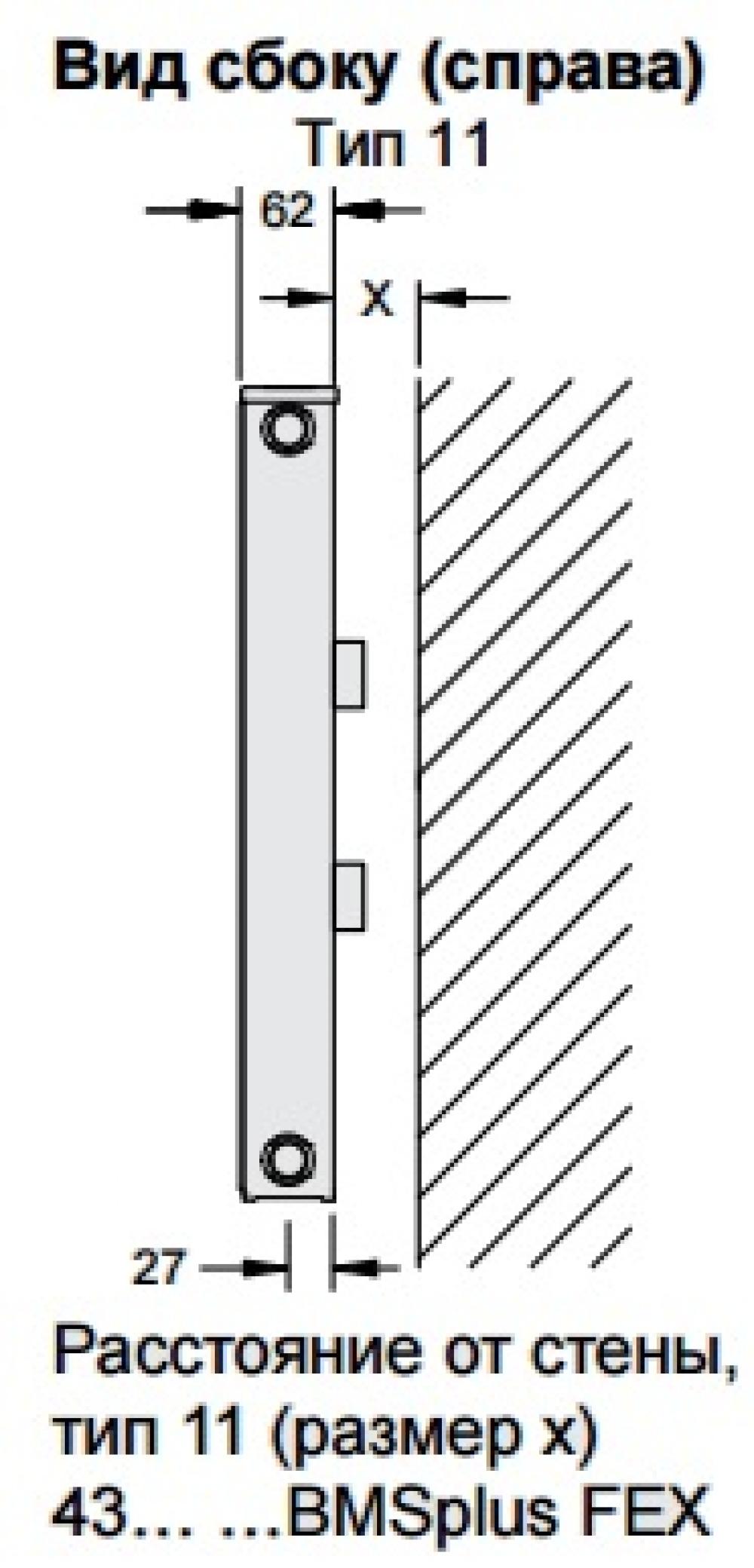 Стальной панельный радиатор Buderus Logatrend C-Profil 11/300/800