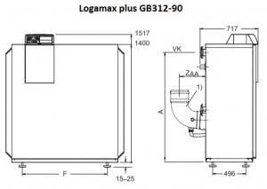 Газовый конденсационный напольный котел Buderus Logamax plus GB312-90