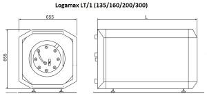 Горизонтальный бак-водонагреватель Buderus Logalux LT135/1