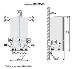Газовый настенный котел Buderus Logamax U072-24