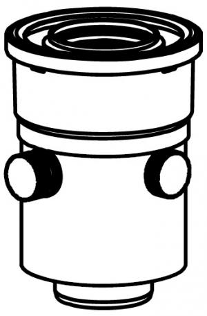 Подключение вертикальное - DN60/100