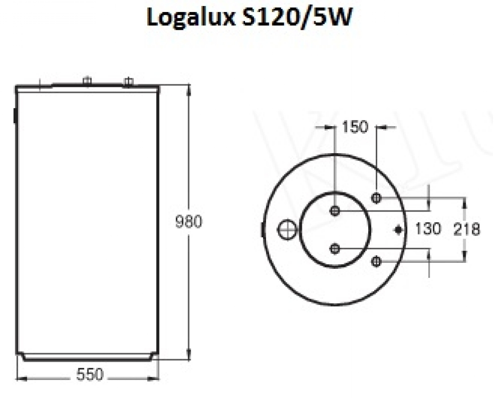 Вертикальный бак-водонагреватель Buderus Logalux S120/5W