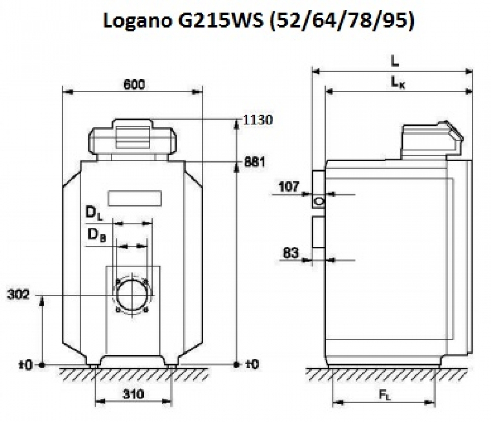 Универсальный котел Buderus Logano G215WS-64