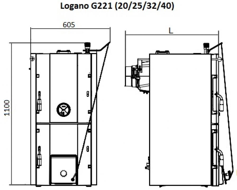 Твердотопливный котел Buderus Logano G221-20