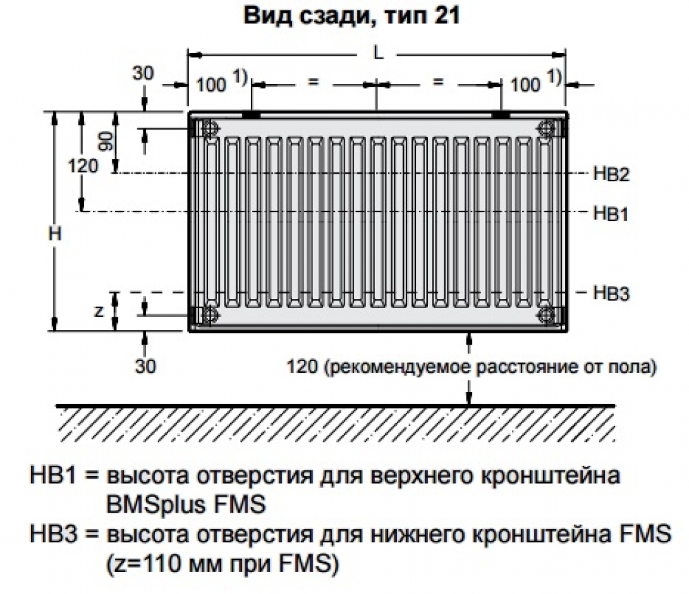 Стальной панельный радиатор Buderus Logatrend C-Profil 21/600/400