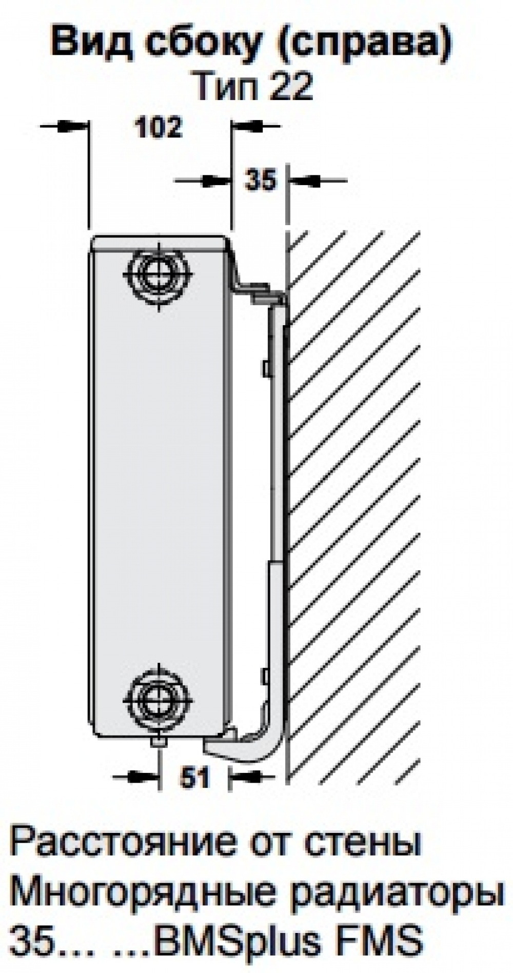 Стальной панельный радиатор Buderus Logatrend C-Profil 22/300/500