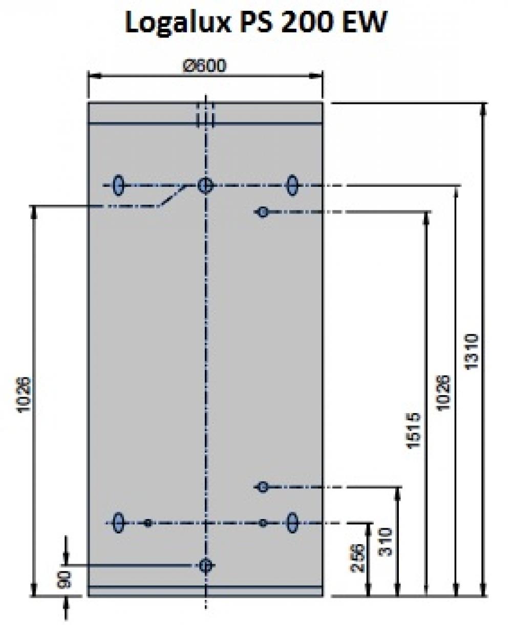 Буферная емкость Buderus Logalux PS 200 EW
