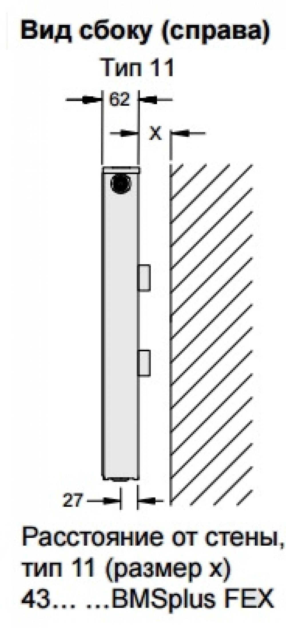 Стальной панельный радиатор Buderus Logatrend VC-Profil 11/500/400 R
