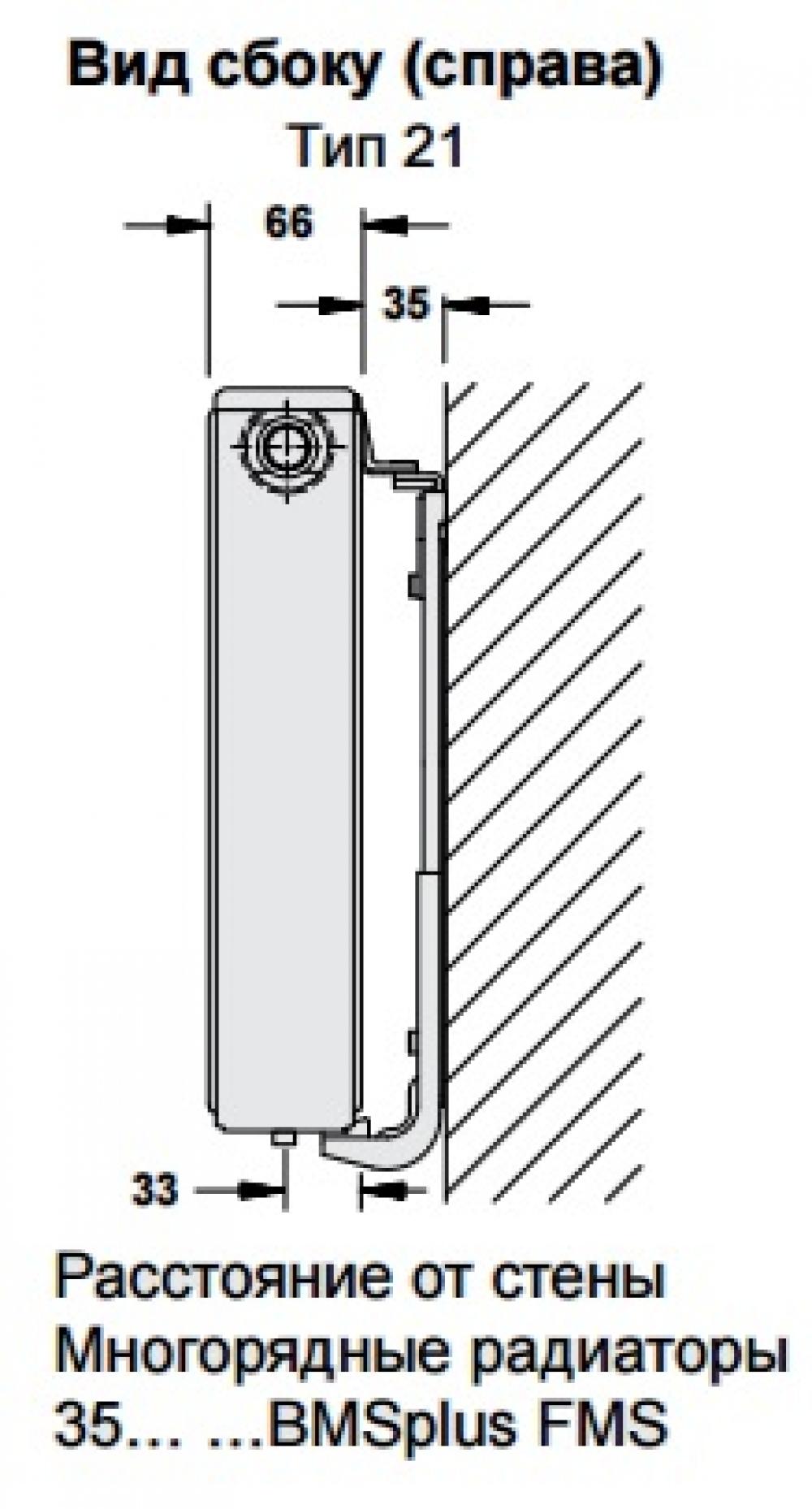 Стальной панельный радиатор Buderus Logatrend VC-Profil 21/400/500 R