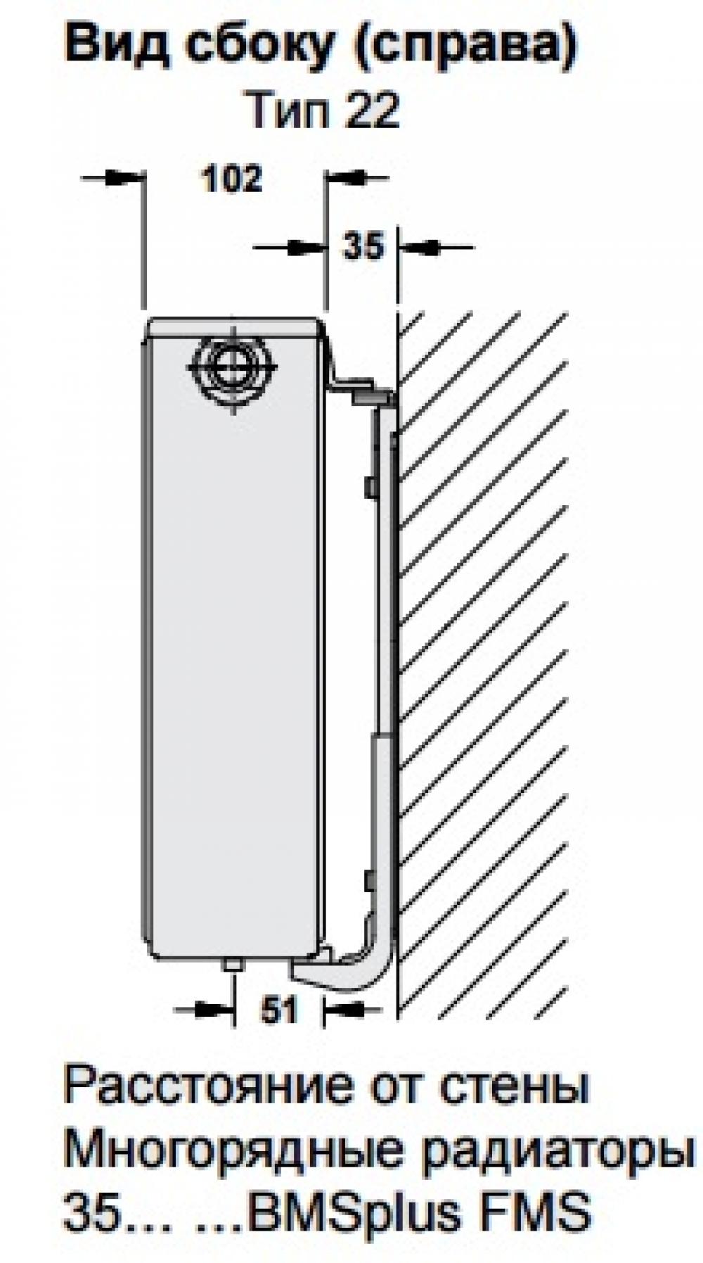 Стальной панельный радиатор Buderus Logatrend VC-Profil 22/900/400 R