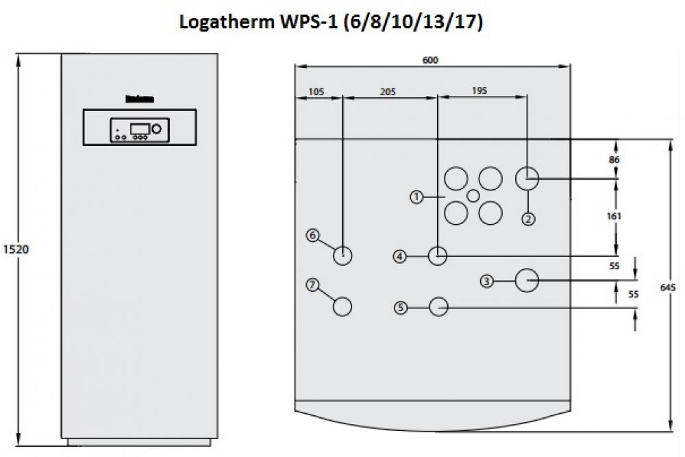 Геотермальный тепловой насос Buderus Logatherm WPS 17-1