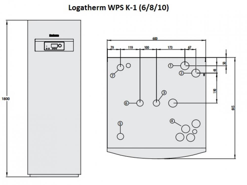 Геотермальный тепловой насос Buderus Logatherm WPS 6K-1