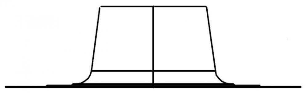 DO, фланец плоской крыши - DN110/160