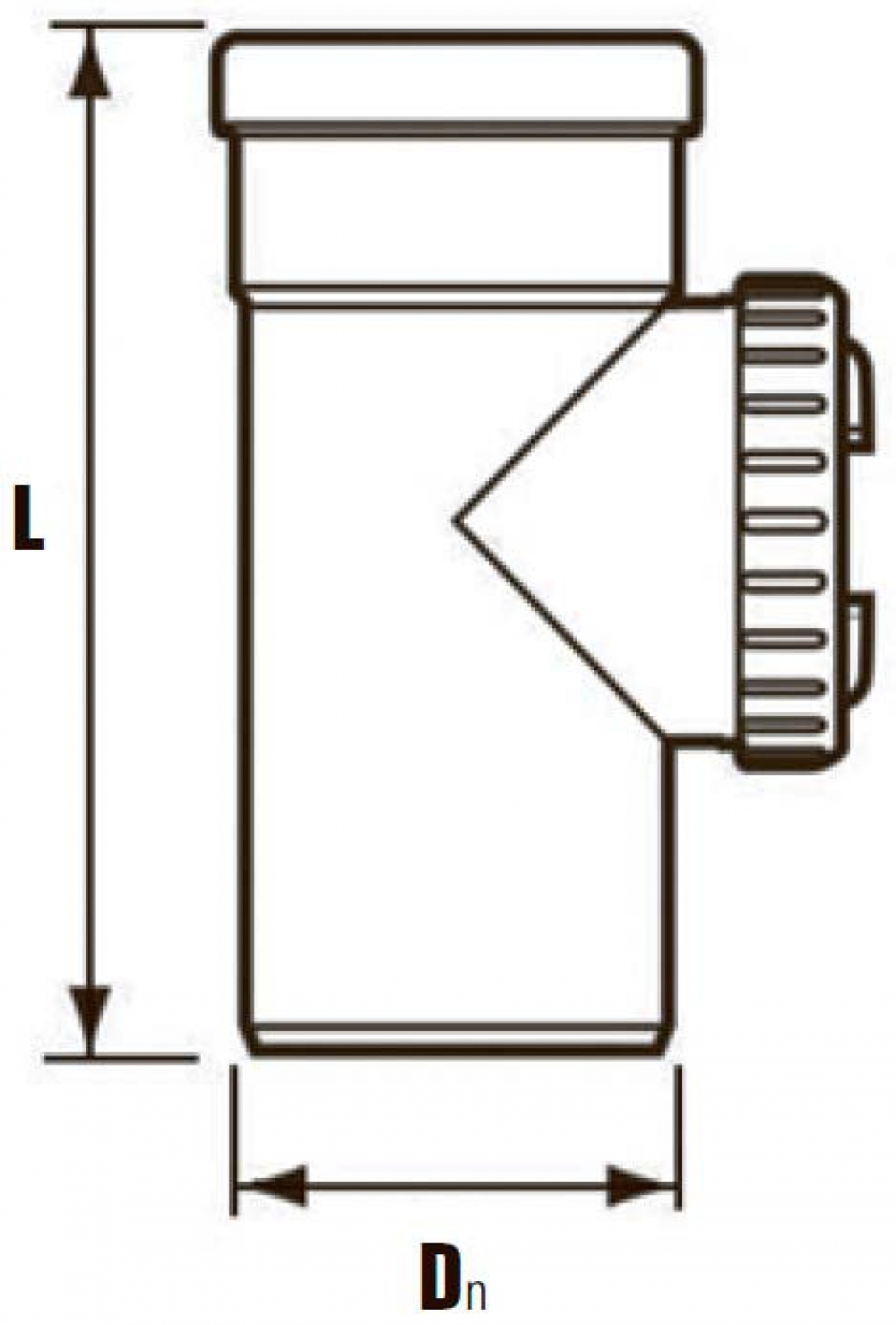 GA, участок трубы L=250 (ревизия) - DN110