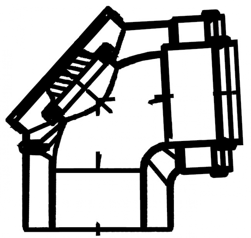 GA, GA-K, GN, угол 87° (ревизия) - DN110