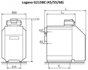 Жидкотопливный котел Buderus Logano G215-68 BE (снимается с производства)