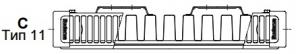 Стальной панельный радиатор Buderus Logatrend C-Profil 11/300/1000