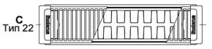 Стальной панельный радиатор Buderus Logatrend C-Profil 22/300/400