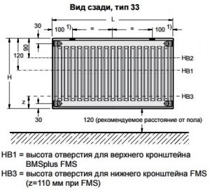 Стальной панельный радиатор Buderus Logatrend C-Profil 33/600/800