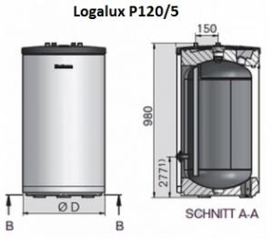 Буферная емкость Buderus Logalux P120/5