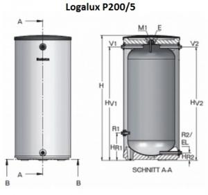 Буферная емкость Buderus Logalux P200/5