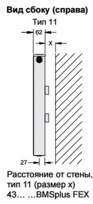 Стальной панельный радиатор Buderus Logatrend VC-Profil 11/300/1000 R