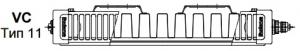 Стальной панельный радиатор Buderus Logatrend VC-Profil 11/900/800 R