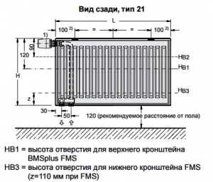 Стальной панельный радиатор Buderus Logatrend VC-Profil 21/600/500 R