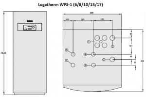 Геотермальный тепловой насос Buderus Logatherm WPS 13-1