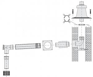 GA, комплект дымохода - DN80