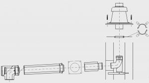 GA-K, комплект дымохода - DN80/125