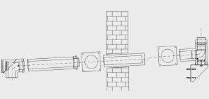 GAF-K, комплект дымохода - DN110/160