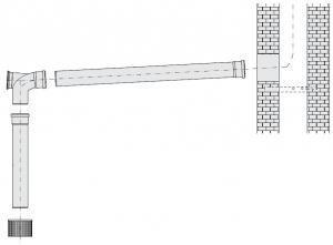 GN, комплект дымохода - DN110