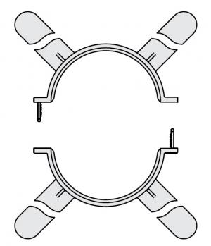 GA, распорки держатель труб (4 шт.) - DN110
