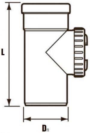 GA, GA-K, GN, участок трубы L=250 (ревизия) - DN110