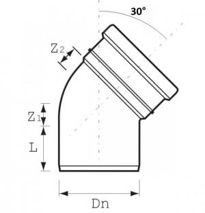 DO, GA-K, GAF-K, угол 30° - DN110/160