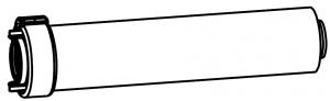 DO, удлинитель L=1000 - DN80/125
